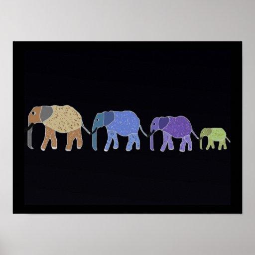 Elephants Never Forget Print