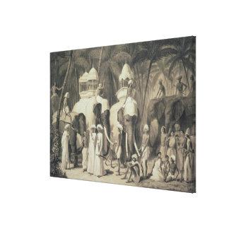 Elephants of the Raja of Travandrum, from 'Voyage Canvas Print