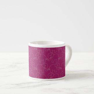 Elephants on Parade Pattern Cup Espresso Mug
