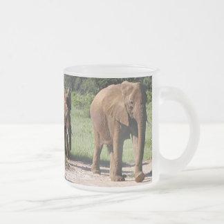 Elephants on the move in Samburu (MIRROR) Mug