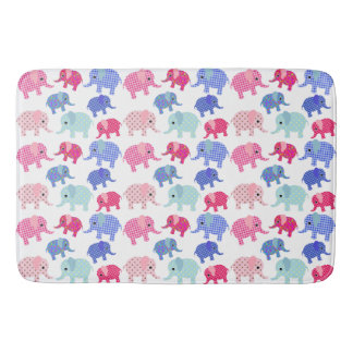 ELEPHANTS PATTERN DESIGN BATH MAT