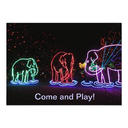 Elephants Play Invitations