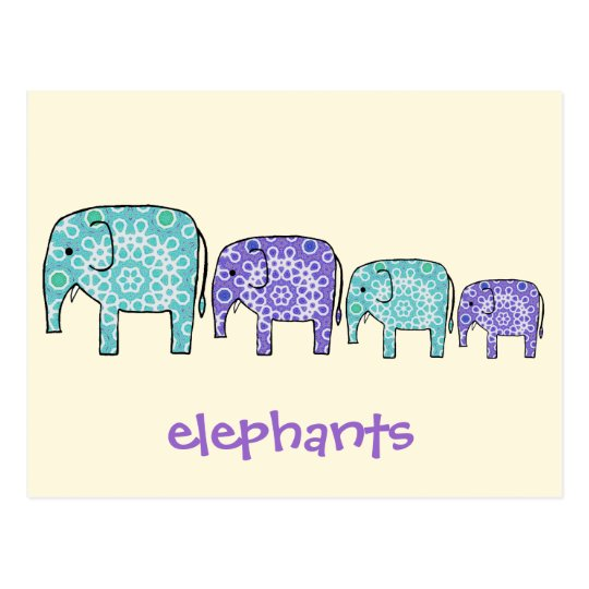Elephants Postcard