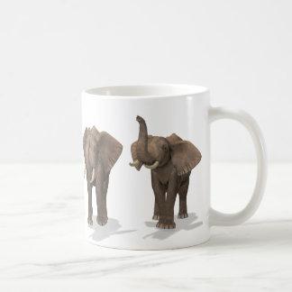 Elephants Quartet Basic White Mug