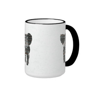 Elephants Ringer Mug
