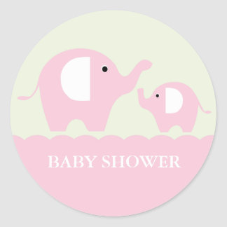 Elephants Round Sticker