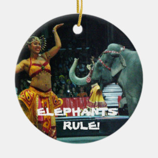 ELEPHANTS  RULE! ornament