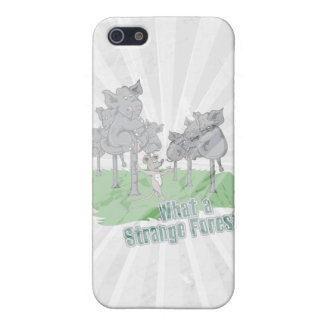 elephants scared of mouse funny forest vector cart cover for iPhone 5/5S