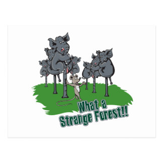 elephants scared of mouse funny forest vector cart postcard