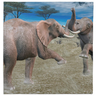 Elephants Serengeti Challenge Printed Napkins