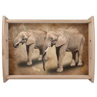 ELEPHANTS SERVING TRAY