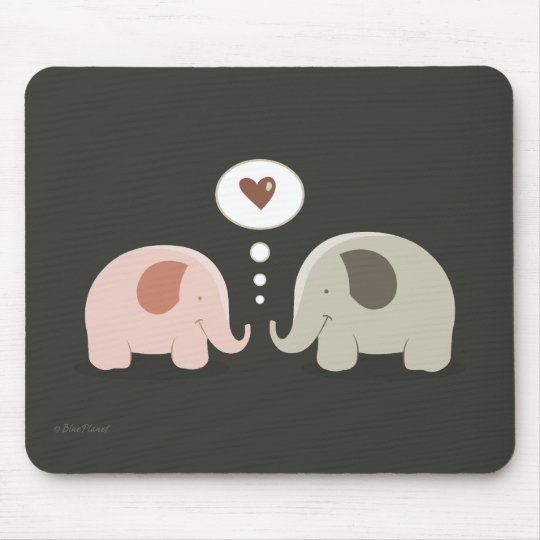 Elephants Soul Mates mousepad