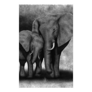 Elephants Stationery