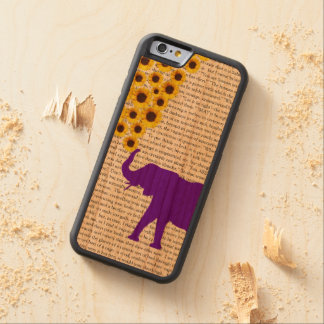 Elephants, Sunflowers & Jane Eyre Carved Cherry iPhone 6 Bumper Case