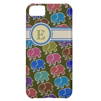 elephants to add name initial iPhone 5C case