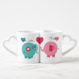 Elephants True Love Forever Lovers Mugs