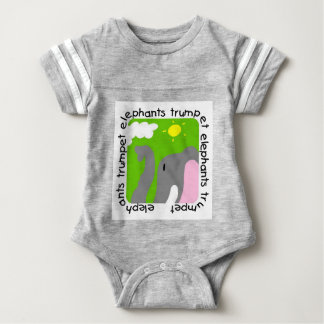 Elephants Trumpet Baby Football Bodysuit