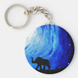 Elephants Under Moonlight (K.Turnbull Art) Key Ring