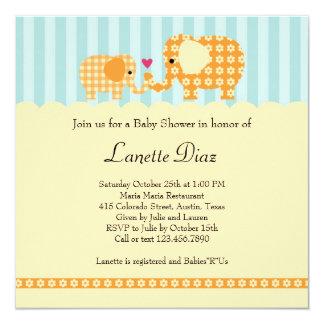 Elephants Unisex Baby Shower Invitation