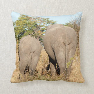 Elephants Walking Away Cushion