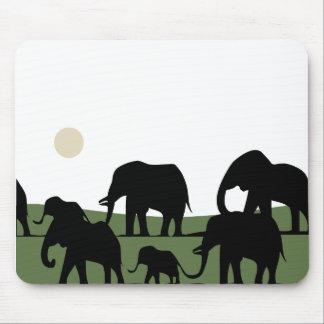 Elephants walking mouse mat