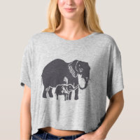 Elephants Women's Bella Boxy Crop Top T-shirt