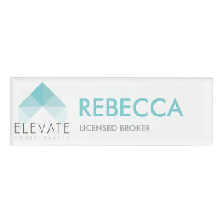 Elevate Homes Realty customizable name tag