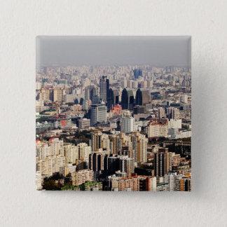 Elevated Beijing Cityscape 15 Cm Square Badge