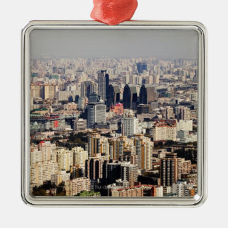 Elevated Beijing Cityscape Christmas Ornament