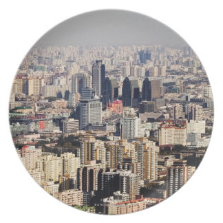 Elevated Beijing Cityscape Plate