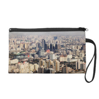 Elevated Beijing Cityscape Wristlet Clutches