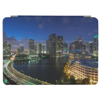Elevated city skyline from Brickell Key iPad Air Cover