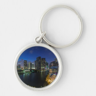 Elevated city skyline from Brickell Key Key Ring