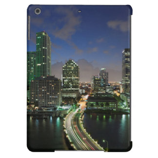 Elevated city skyline iPad air covers