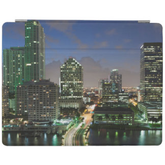 Elevated city skyline iPad cover