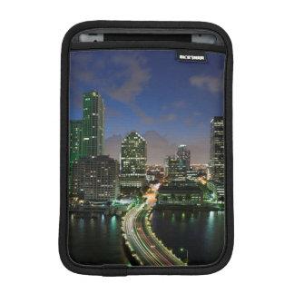 Elevated city skyline iPad mini sleeve