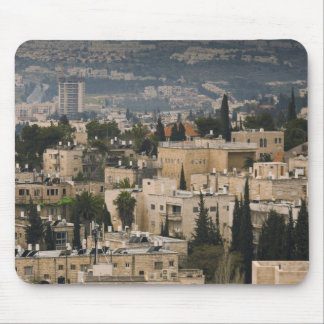 Elevated city view from Jerusalem YMCA tower Mouse Mat