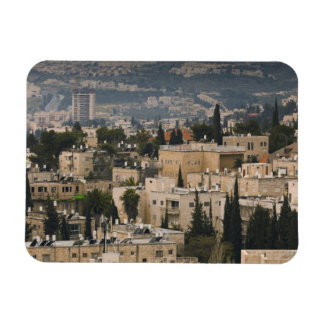 Elevated city view from Jerusalem YMCA tower Rectangular Photo Magnet