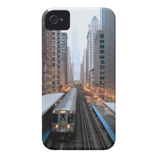 Elevated rail in downtown Chicago over Wabash Case-Mate iPhone 4 Case