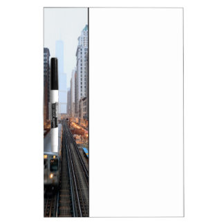 Elevated rail in downtown Chicago over Wabash Dry Erase Board