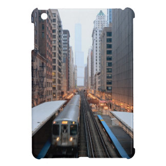 Elevated rail in downtown Chicago over Wabash iPad Mini Cover