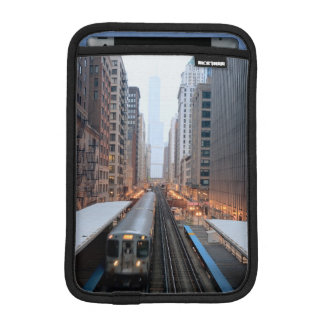 Elevated rail in downtown Chicago over Wabash iPad Mini Sleeve