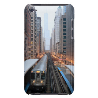 Elevated rail in downtown Chicago over Wabash iPod Case-Mate Case