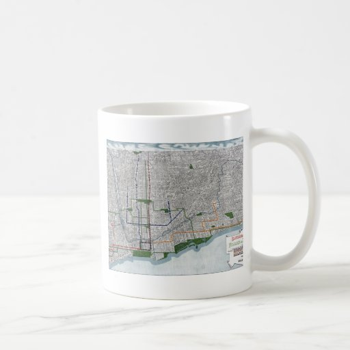 Elevated rails and the parks of Chicago 1908 Coffee Mugs