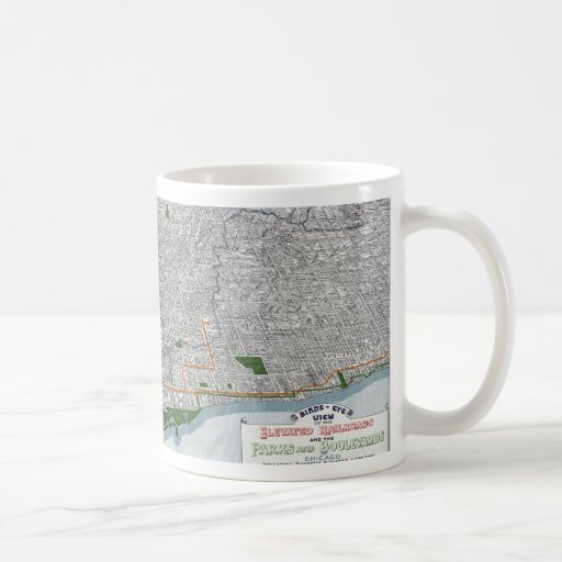 Elevated rails and the parks of Chicago 1908 Coffee Mug