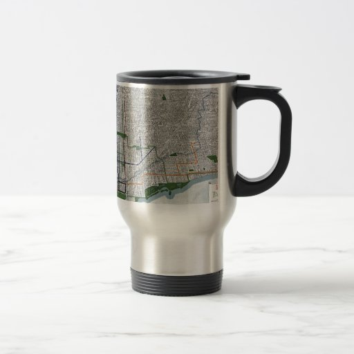 Elevated rails and the parks of Chicago 1908 Mugs