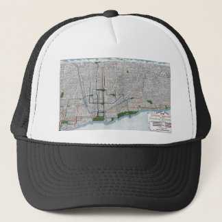 Elevated rails and the parks of Chicago 1908 Trucker Hat