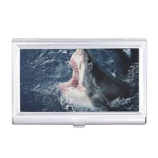 Elevated Shark mouth open Business Card Holder