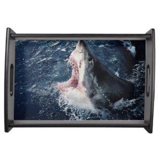 Elevated Shark mouth open Serving Platters