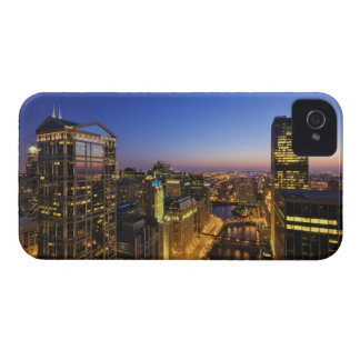 Elevated view, Chicago River iPhone 4 Covers
